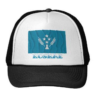 Bandera que agita de Kosrae, con nombre Gorras