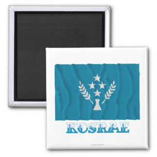 Bandera que agita de Kosrae, con nombre Imán Cuadrado