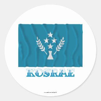 Bandera que agita de Kosrae, con nombre Etiqueta Redonda