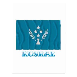 Bandera que agita de Kosrae, con nombre Postal