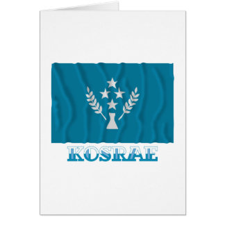 Bandera que agita de Kosrae, con nombre Tarjeta De Felicitación