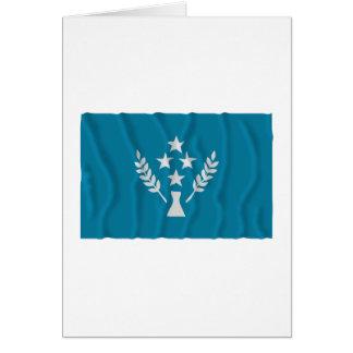 Bandera que agita de Kosrae Tarjeta De Felicitación