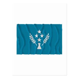 Bandera que agita de Kosrae Tarjetas Postales