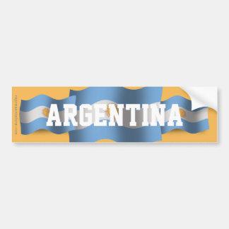 Bandera que agita de la Argentina Pegatina Para Auto