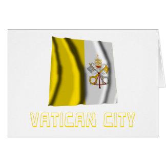 Bandera que agita de la Ciudad del Vaticano con no Tarjetas