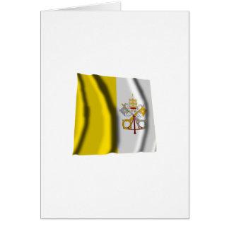 Bandera que agita de la Ciudad del Vaticano Felicitaciones