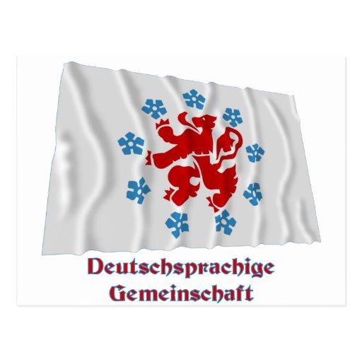 Bandera que agita de la comunidad de habla alemana tarjetas postales