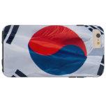 Bandera que agita de la Corea del Sur Funda De iPhone 6 Plus Tough