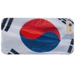 Bandera que agita de la Corea del Sur Funda De iPhone 6 Plus Barely There