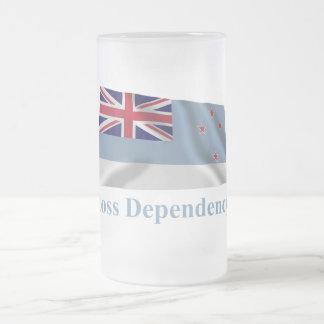 Bandera que agita de la dependencia de Ross con no Taza Cristal Mate