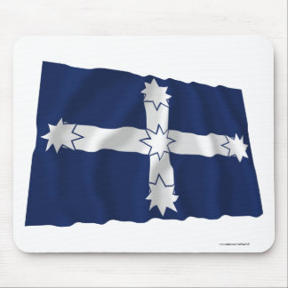 Bandera que agita de la estacada de Eureka Alfombrillas De Ratón
