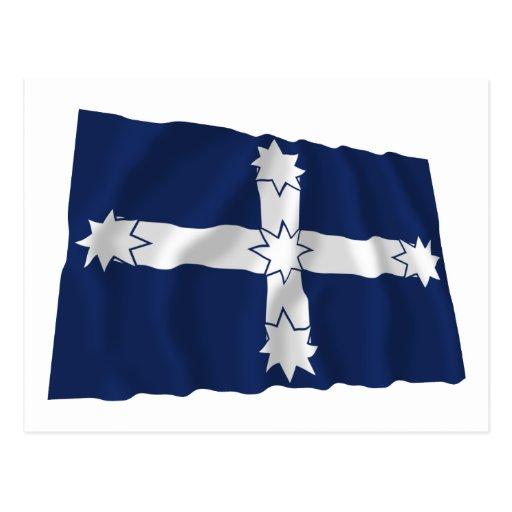 Bandera que agita de la estacada de Eureka Tarjetas Postales