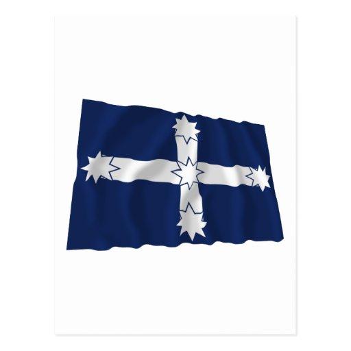 Bandera que agita de la estacada de Eureka Postales