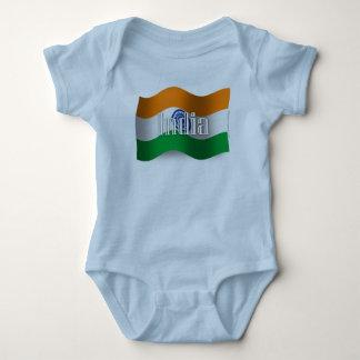 Bandera que agita de la India Body Para Bebé