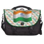 Bandera que agita de la India Bolsas Para Ordenador