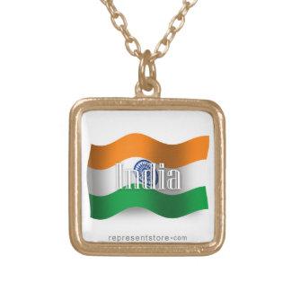 Bandera que agita de la India Grimpolas Personalizadas