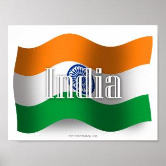 Bandera que agita de la India Posters