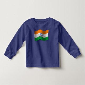 Bandera que agita de la India Playera De Bebé