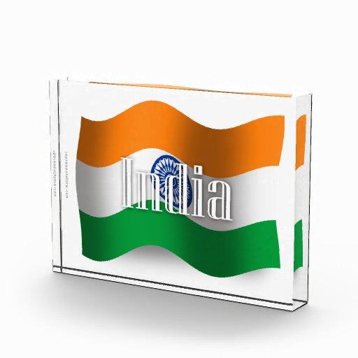 Bandera que agita de la India