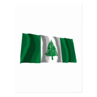 Bandera que agita de la isla de Norfolk Tarjeta Postal
