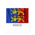 Bandera que agita de la Mancha con nombre Tarjetas Postales