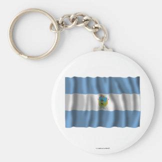 Bandera que agita de La Pampa Llaveros