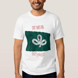 Bandera que agita de la prefectura de Miyagi Camisas