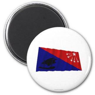 Bandera que agita de la provincia central imán para frigorífico