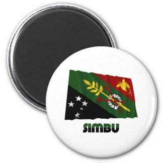 Bandera que agita de la provincia de Chimbu Imán Para Frigorifico