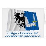 Bandera que agita de la provincia de Connacht con  Felicitación