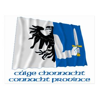 Bandera que agita de la provincia de Connacht con  Postales