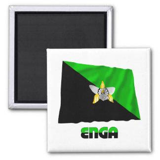 Bandera que agita de la provincia de Enga Imanes De Nevera