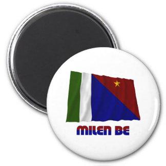 Bandera que agita de la provincia de la bahía de M Imán Para Frigorifico