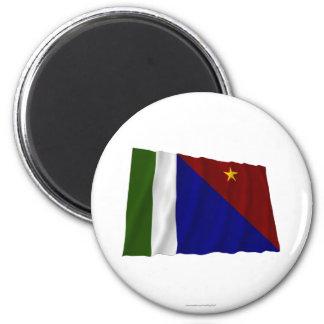 Bandera que agita de la provincia de la bahía de M Imanes Para Frigoríficos