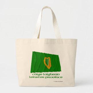 Bandera que agita de la provincia de Leinster con  Bolsa