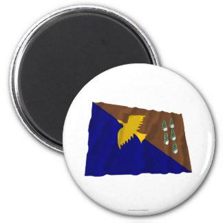 Bandera que agita de la provincia de Manus Iman De Nevera