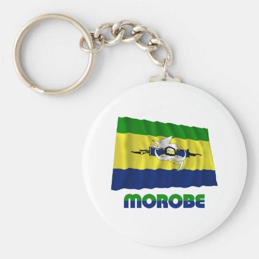Bandera que agita de la provincia de Morobe Llavero Redondo Tipo Pin