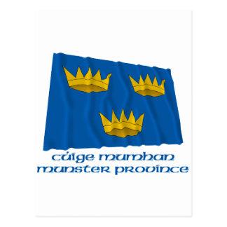 Bandera que agita de la provincia de Munster con Postal