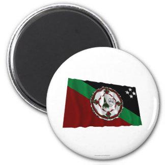 Bandera que agita de la provincia del este de New  Imanes De Nevera