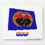 Bandera que agita de la provincia del golfo alfombrilla de ratones
