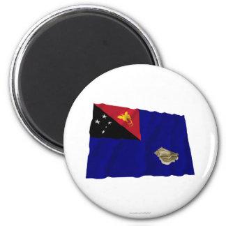 Bandera que agita de la provincia del oeste de New Imanes Para Frigoríficos