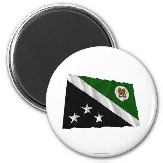Bandera que agita de la provincia occidental de la imán