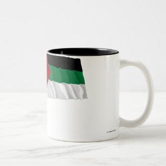 Bandera que agita de la rebelión árabe tazas