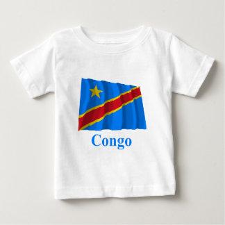 Bandera que agita de la república Democratic de T Shirt