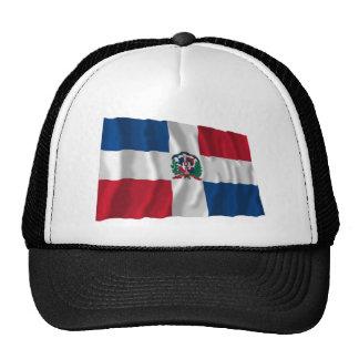 Bandera que agita de la República Dominicana Gorra