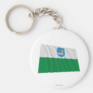 Bandera que agita de Lääne-Viru Llaveros