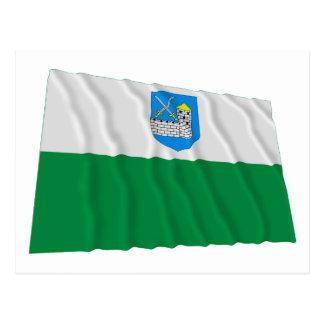 Bandera que agita de Lääne-Viru Postales