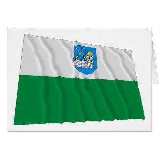 Bandera que agita de Lääne-Viru Tarjeta De Felicitación