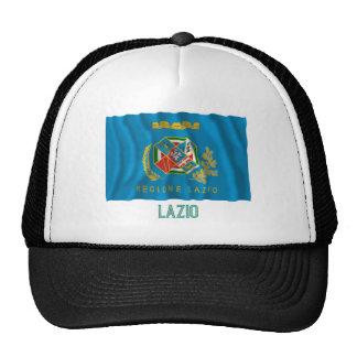 Bandera que agita de Lazio con nombre Gorros Bordados