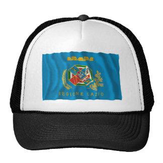 Bandera que agita de Lazio Gorros